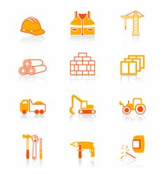 construction icons juicy series vector image