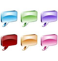 Dialog Boxes vector image vector image