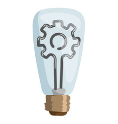 Gear lamp concept isolated vector