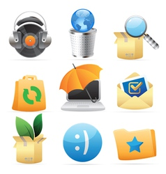 Icons for concepts vector image