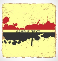 Old paper with Ink blots vector image vector image