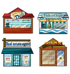 Shops set vector image vector image