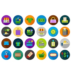 Store round icons set vector