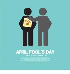 April Fool Day Concept Symbol vector image vector image