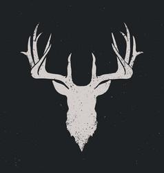 deer head silhouette invert vector image vector image