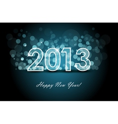 2013 - new year background vector image vector image