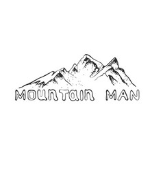 a mountain peak with pine vector image vector image