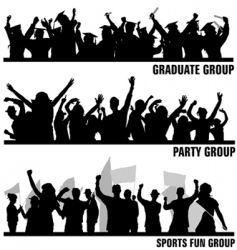 group peoples vector image vector image