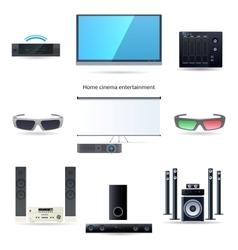 Home cinema entertainment set vector image vector image