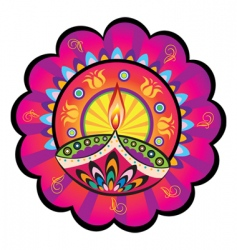Indian light icon vector image vector image