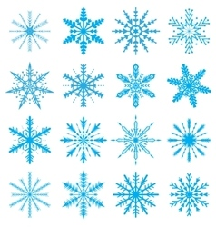 Snowflakes set Icons set snowflakes Snowflakes vector image vector image