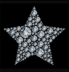 star in diamonds vector image