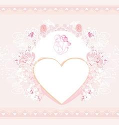 valentine stylish card vector image vector image