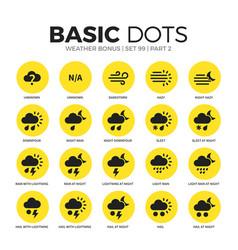 weather bonus flat icons set vector image vector image