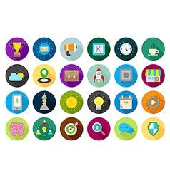 Web round icons set vector