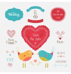 Wedding invitation collection vector image