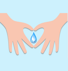 world water day sign symbol vector image