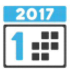 2017 year first day halftone icon vector