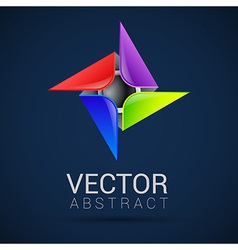 Abstract logo templates Infinite shapes Square vector image