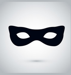 black female party mask festival mask icon vector image