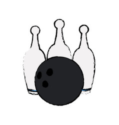 bowling ball pin game sport vector image