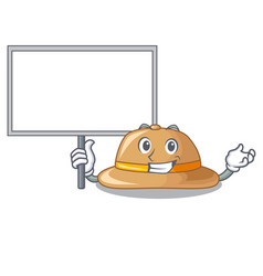 Bring board cork hat isolated on the mascot vector