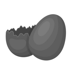 Broken chocolate egg easter single icon in vector