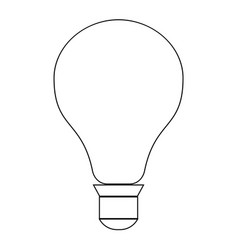 Bulb the black color icon vector