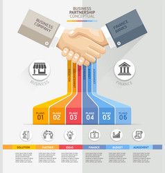 Business partnership connection concept business vector