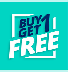 Buy one get one free sale tag background vector