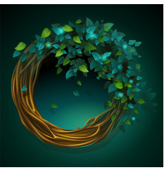 Cartoon wreath of vines and vector