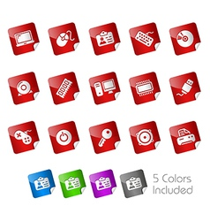 Computer Devices Stickers vector image