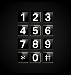 Digital keypad with numbers vector