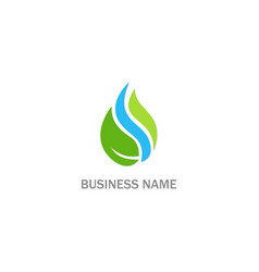 droplet bio eco nature logo vector image