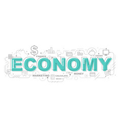 Economy icons for education graphic design vector