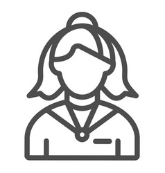 female receptionist line icon administrator vector image