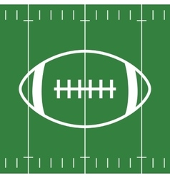 Flat Design of Football Field and Ball vector image