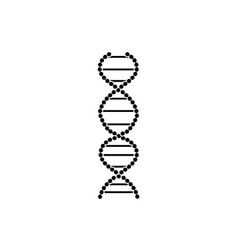 flat sign and dna icon symbol medicine vector image