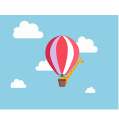 Giraffe in the balloon vector