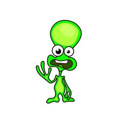 green alien face emoji vector image