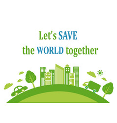 green background about ecology vector image