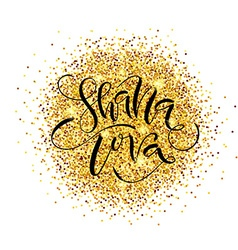 Hand sketched Shana Tova Happy New Year text as vector