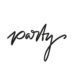 handwriting party vector image