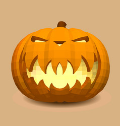head-pumpkin on a beige background for decoration vector image