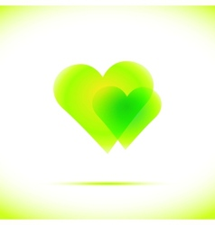 Heart Icon with Four vector image
