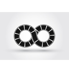 Infinite strip of film Conceptual logo vector image