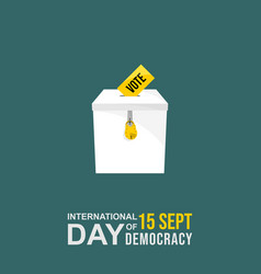 international day democracy design with iron vector image