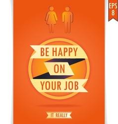 Job circle ribbon orange VS vector