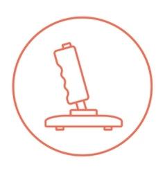 Joystick line icon vector image