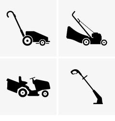 Lawn mowers vector